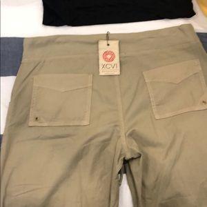 XCVI Pants - Khaki cargo type pants